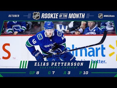 Pettersson picks up rookie of the month for October