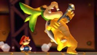 New Super Mario Bros U - All Bosses with Mini Mushrooms
