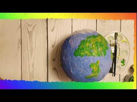Как сделать глобус из бумаги своими руками видео
