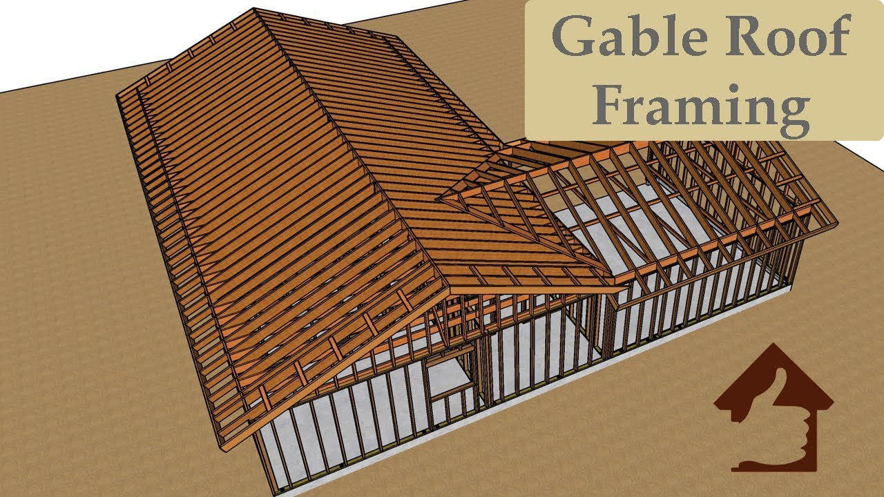 Conventional Gable Roof Framing Ideas L Shaped Floor