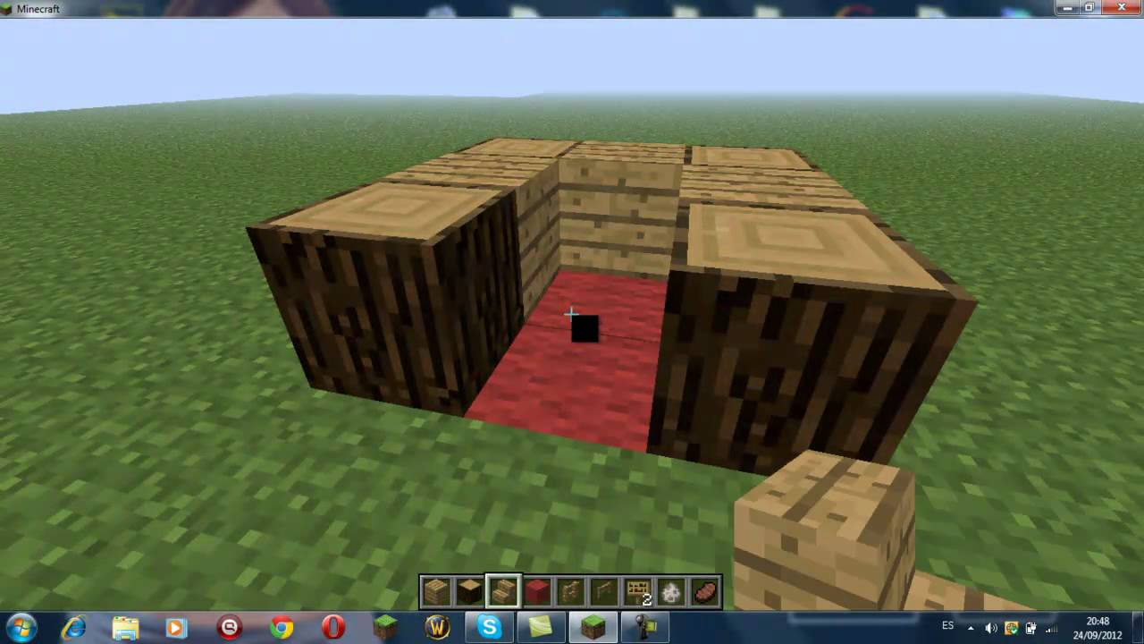Minecraft como hacer una casa para perros o lobos youtube for Como aser una casa