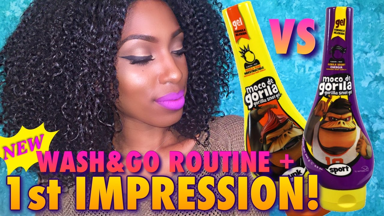 Gorilla Snot Gel On Natural Hair Wash And Go Update Youtube