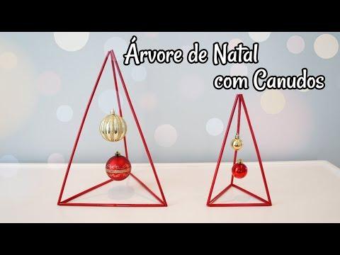 DIY - ÁRVORE DE NATAL COM CANUDOS | Tati Maniero thumbnail