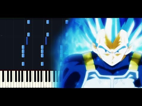 Dragon ball Super OST ep 123 - Vegeta's new form [Piano tutorial + SHEETS] // Synthesia