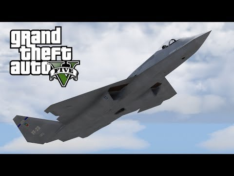 GTA V YF-23 Black Widow Stealth Fighter (MOD)