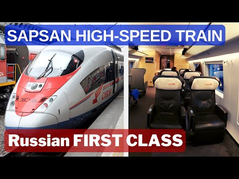First Class In Train - Sapsan Russian High-Speed Train Review