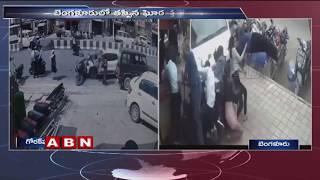 Cctv Footage  Speeding Car Hits Biker In Uttar Pradesh  Abn Telugu