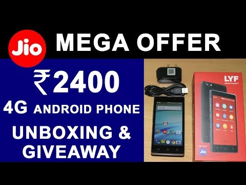 JIO ₹2400 Phone Giveaway | LYF C459 True 4G VoLTE Android Smart Phone Unboxing & Review