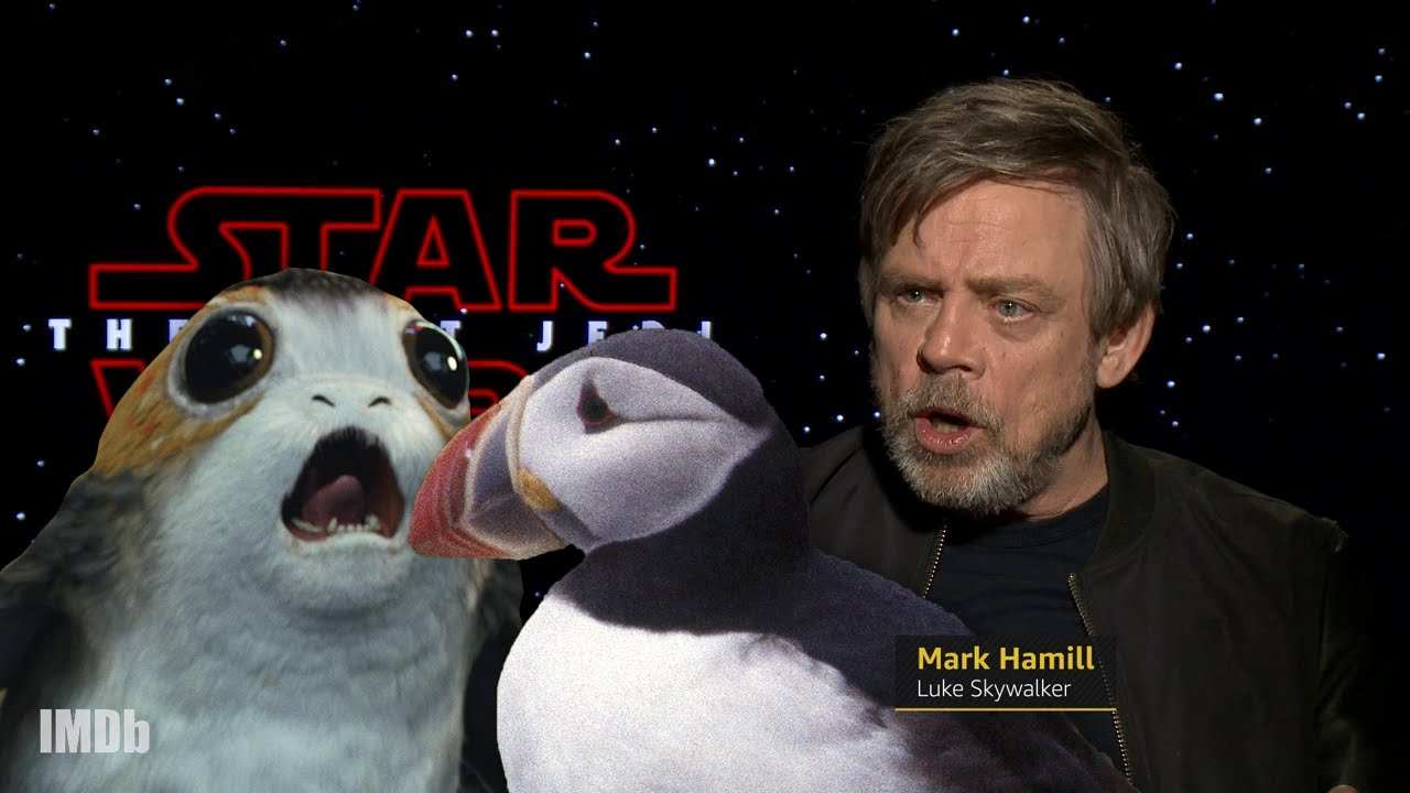 The Last Jedi Cast Talks About Porgs Imdb Exclusive Youtube