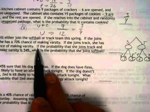 Algebra 2 worksheet 303 number 3 4 probability tree diagram youtube algebra 2 worksheet 303 number 3 4 probability tree diagram ccuart Choice Image