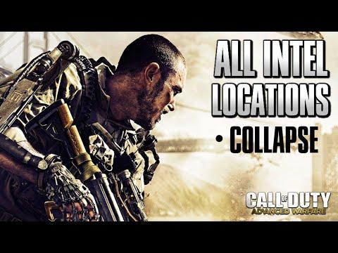 Duty advanced warfare 183 mission 11 collapse 183 all intel locations