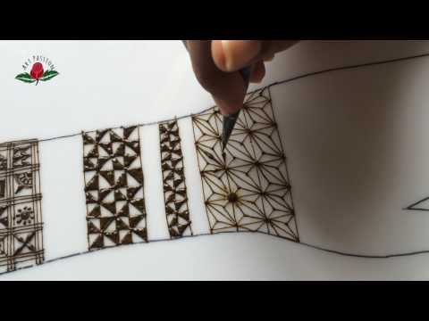 embellishment 14 : learn checks and triangle in various pattern with henna mehandi design