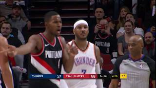 Thunder's Carmelo Anthony Controversially Ejected During Game vs. Trailblazers thumbnail