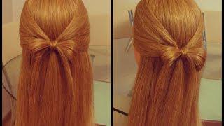 Бантик из волос . Подробный видео- урок.