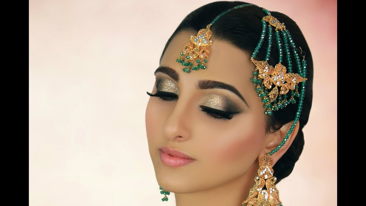 Bridal Makeup Tutorial You Ivory Smokey Eye With Glitter Tradtional Stani Indian Asian