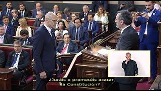 Romeva jura su cargo como senador electo