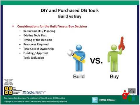 rwdg webinar: diy and purchased data governance tools -