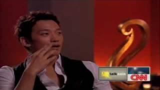 Rain interview Talk Asia CNN 281009.