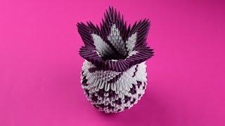 как сделать вазу из бумаги. МОДУЛЬНОЕ ОРИГАМИ бумажная ваза для цветов на 8 марта мк