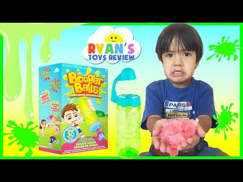 Slime Toy For Kids Booger Balls Disney Cars Angry Birds Family Fun Toys Challenge Ryan ToysReview