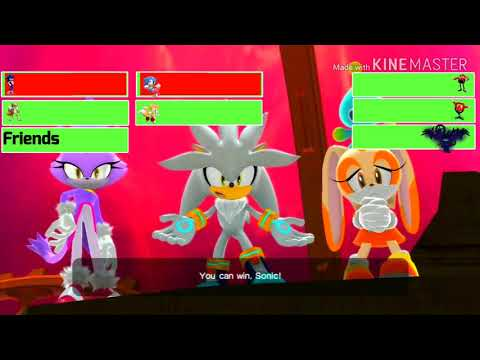 Sonic Generations Final Battle with healthbars  