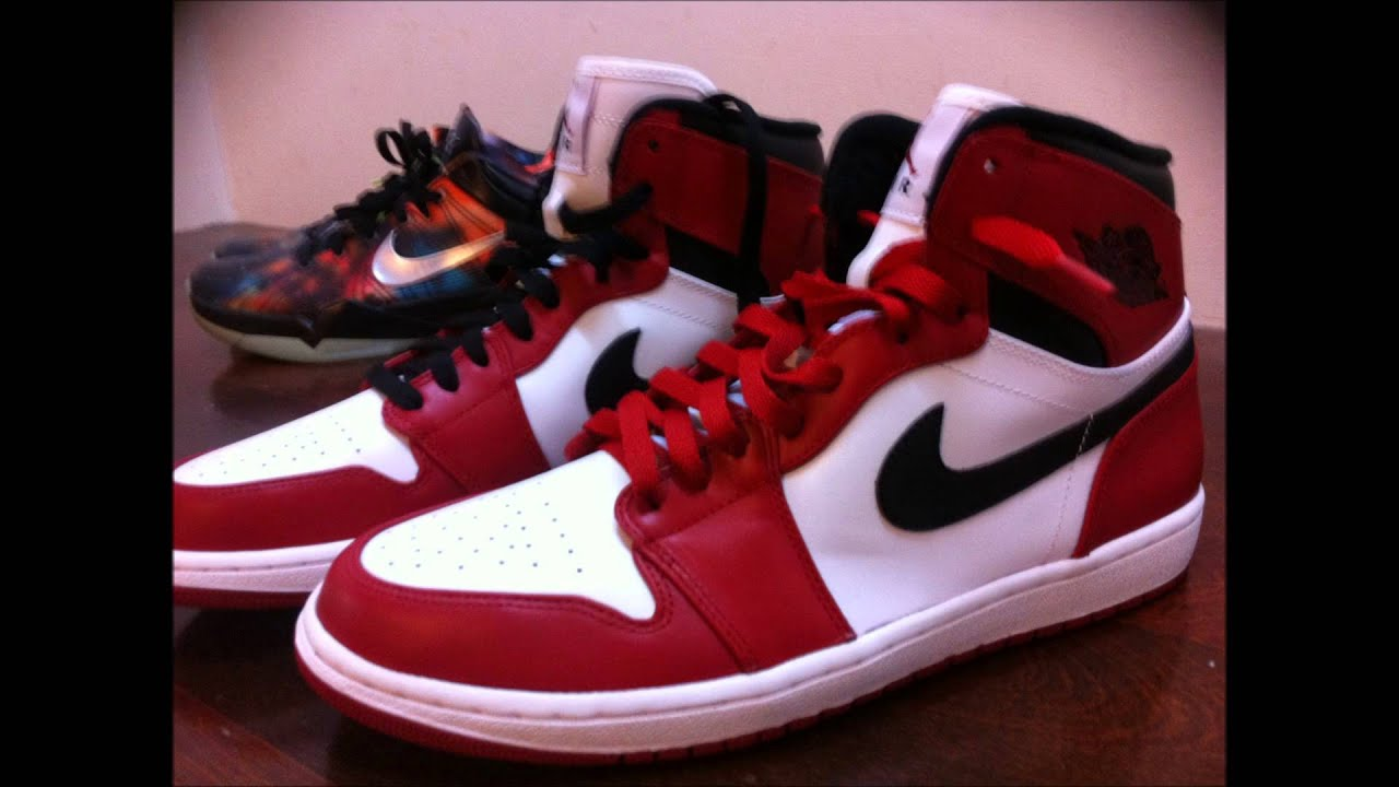 air jordan 1s chicago red laces