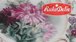 Вышивка гладью по набору Риолис Тарелка с хризантемами. Обзор набора для вышивания