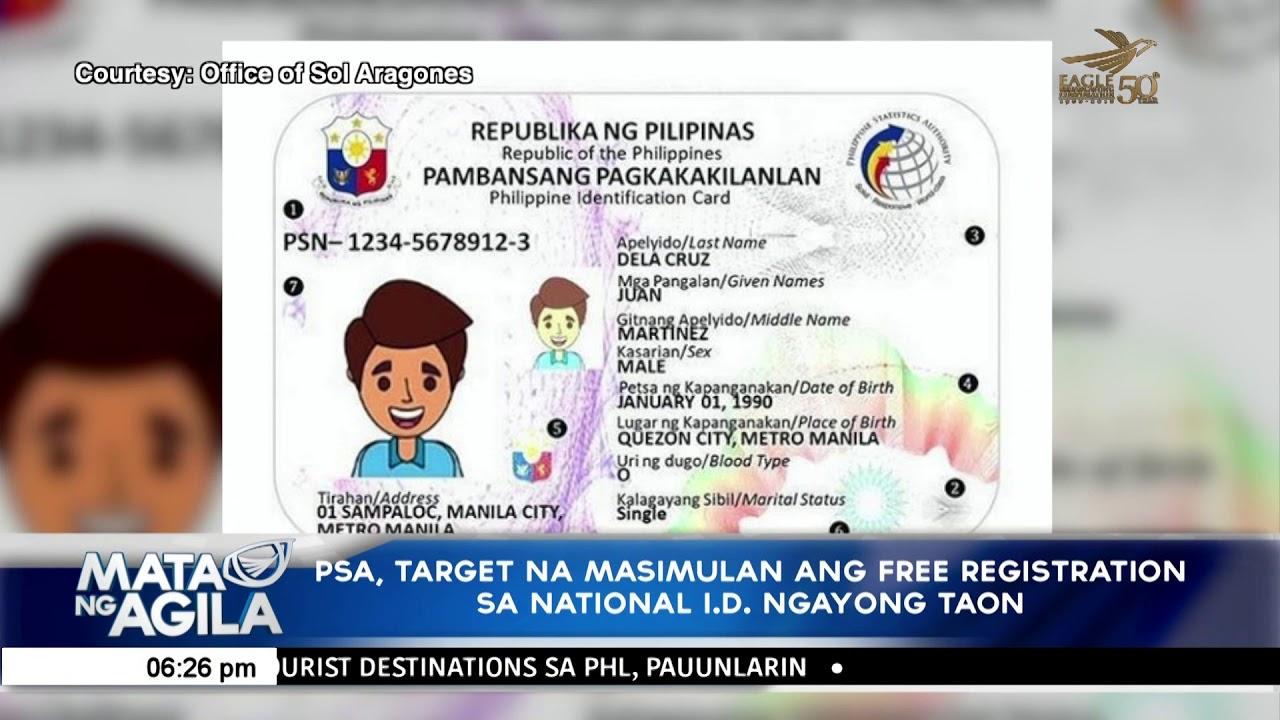 Ngayong I Psa National d Free Sa Registration Ang Masimulan Taon - Na Target Youtube