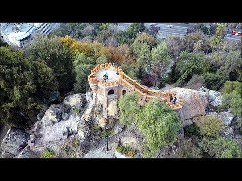 Never seen Before Cerro Santa Lucia in Santiago, Chile (Drone Footage)