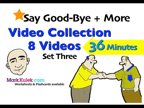 Saying Good-Bye + More | Video Collection - 3 | English Speaking Practice For Communication | ESL