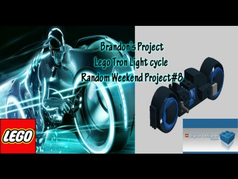 how to make a lego tron light cycle