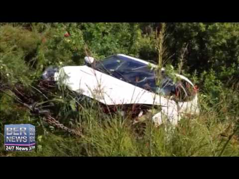 Car Lifted From Embankment After Crash, Jan 10 2015