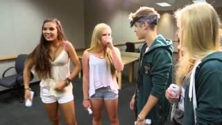 justin bieber surprises lucky fans just dance 4