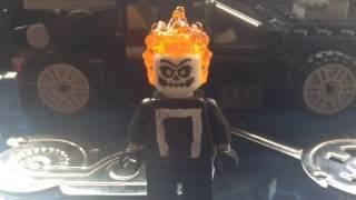 Custom Lego MARVEL Agents of S.H.I.E.L.D Season 4 Ghost rider minifigure showcase + Car build!