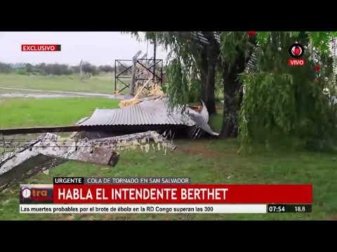 "Temporal: ""No hubo que lamentar heridos"", destacó Berthet"