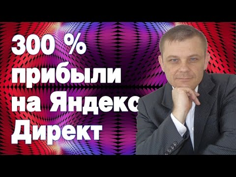 300 процентов прибыли на Яндекс Директ (Евгений Вергус)