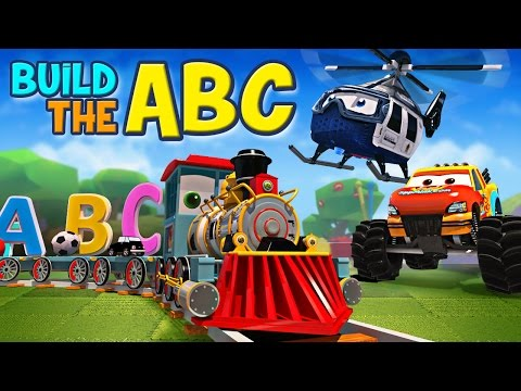 appMink build the ABC with Alphabet Train Monster Truck Police Helicopter and School Bus