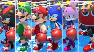 Mario & Sonic at the Olympic Games Tokyo 2020 - All Character Dizzy Animations (Boxing)
