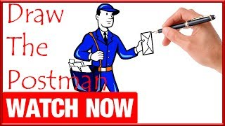 How To Draw The Postman - Learn To Draw - Art Space