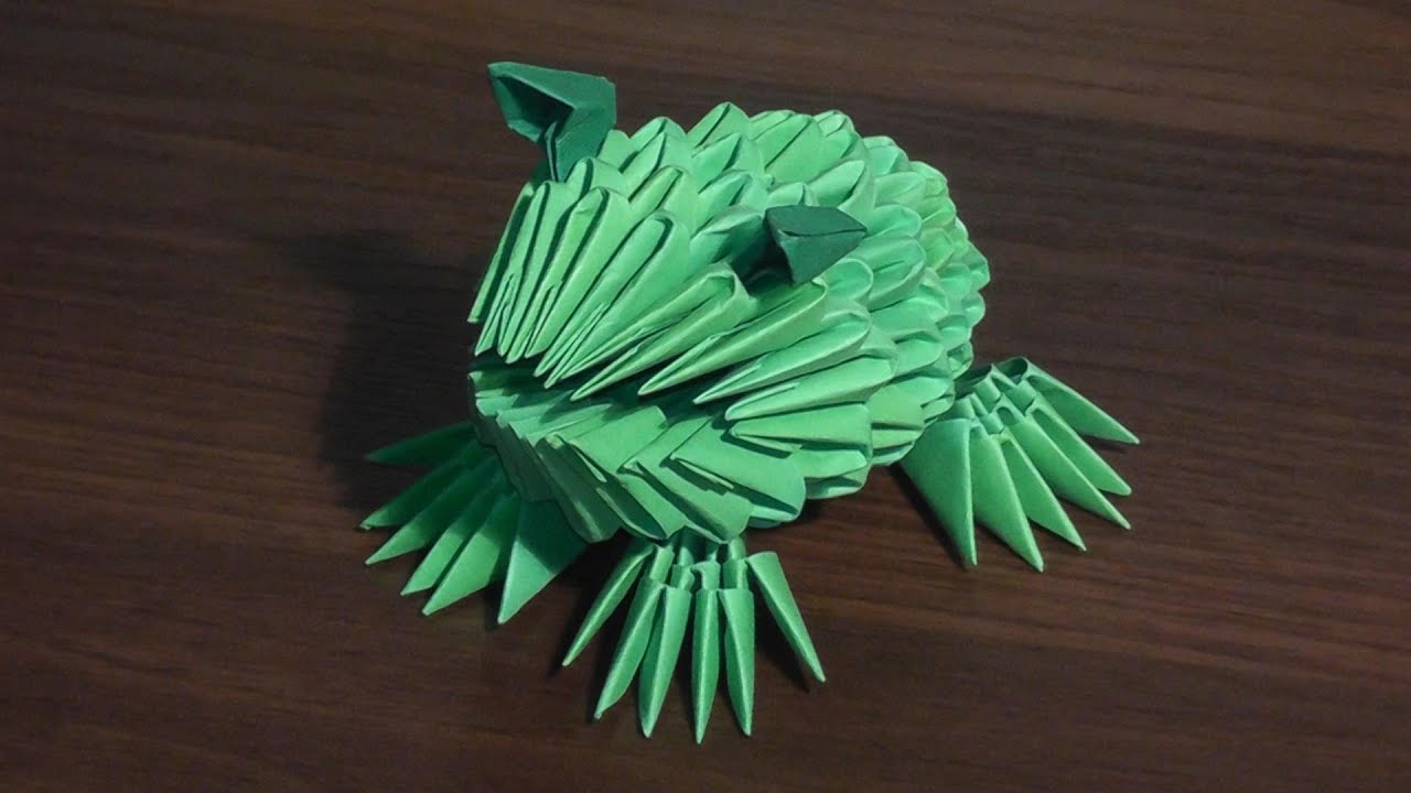 3D origami frog (toad) tutorial (for beginners) - YouTube - photo#28