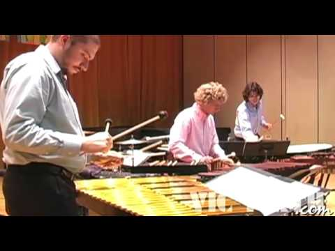 "Ney Rosauro performs his ""Concerto for Marimba & Percussion Ensemble"" - Movement 1"