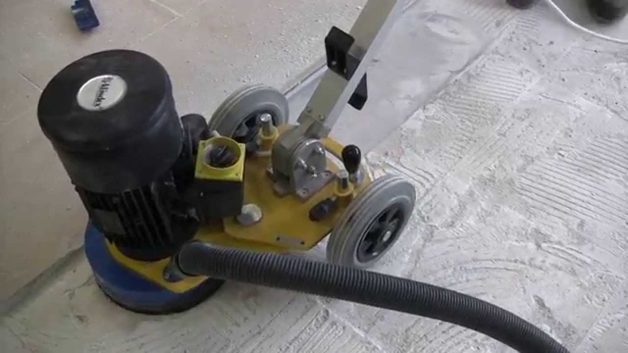 Concrete Surface Preparation With Klindex Floor Grinder