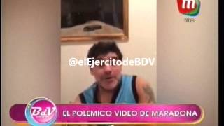 El polémico video de Maradona