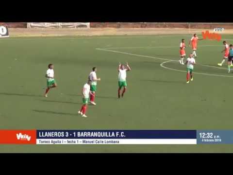 Llaneros vs Barranquilla 3-1 | Torneo Aguila 2019 | Fecha 1