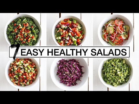 7 EASY + HEALTHY SALADS FOR EVERY DAY OF THE WEEK | Fablunch