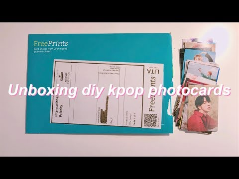 Unboxing DIY kpop photocards