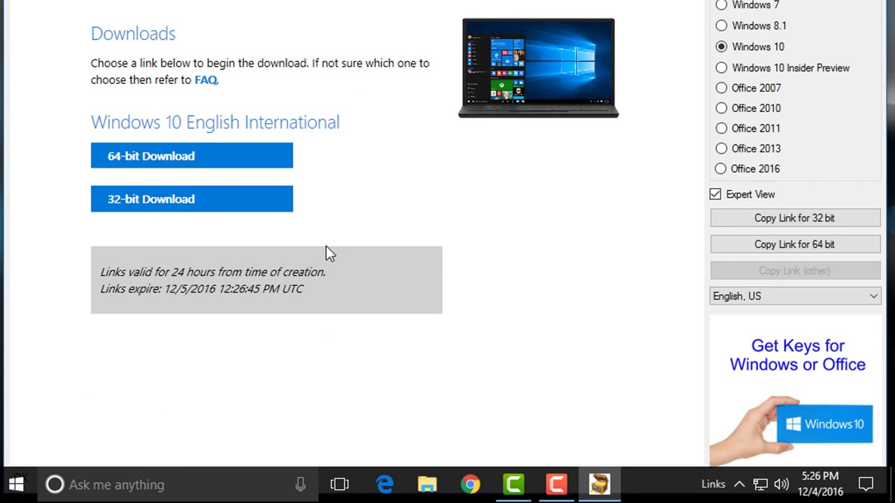 windows 10 from microsoft without product key