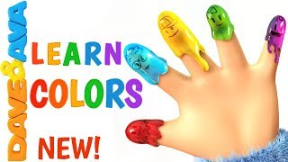 🤩 Finger Family Colors – Nursery Rhymes for Kids - Learn Colors with Dave and Ava🤩