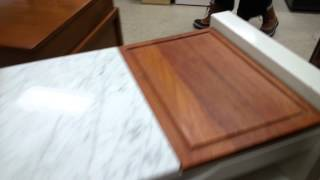 Kitchen Island W/ Marble Cutting Board