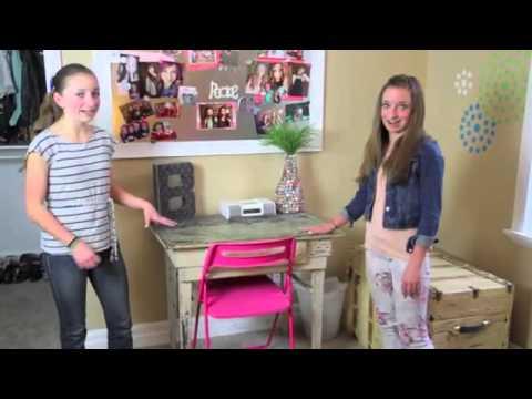 Teen Girl Room Tour _ Brooklyn and Bailey  YouTube
